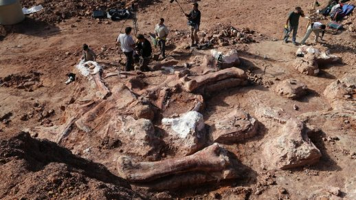 (Survey of the site. Image credit: BBC)