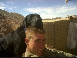 (Heine and Spike in Afghanistan. Image Credit: Jared Heine/CBS)