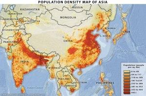 Asia population density