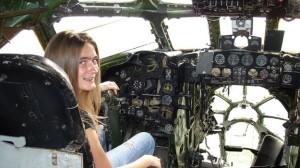 Maria Karmanova in cockpit