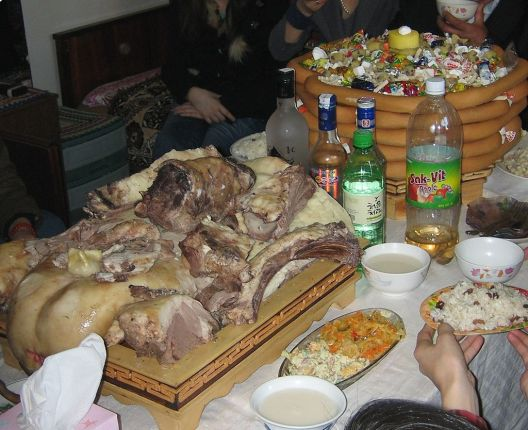 Mongolia Lunar New Year Meal