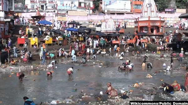 The_Ganga_Canal_Dried_for_Cleaning_the_River_Bed wiki credited